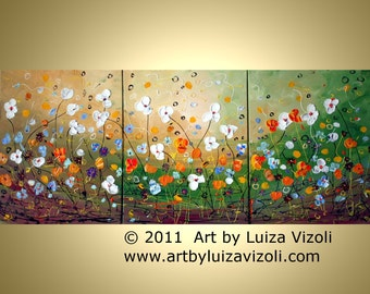 PRIMAVERA Set of 3 Glossy Prints  from my Original Painting each print is 8x10