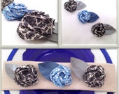 Origami Rose Wedding Favors or Decorations in Damask Print - sets of 10