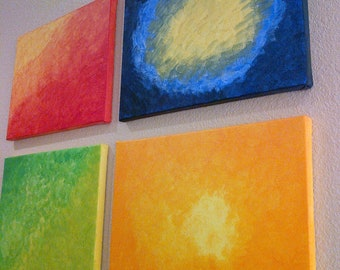 Four seasons ...set of four 11x14 inch canvases depicting the beautiful color display of the 4 seasons