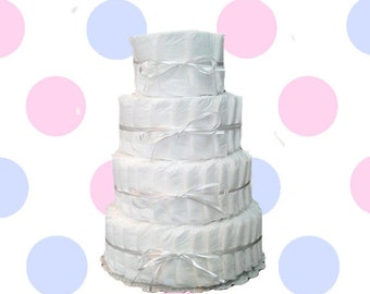 4 Layer- Decorate It Yourself Baby Shower Diaper Cake