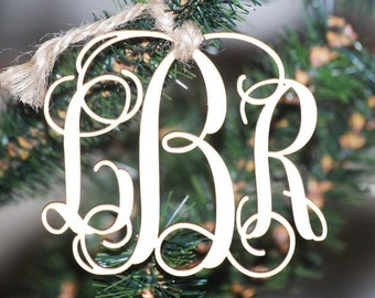 Monogram Christmas Ornament