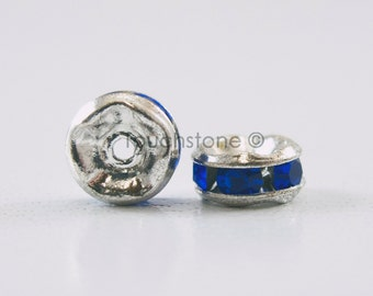 5mm Sapphire Crystal Rondelle Spacer Beads #-