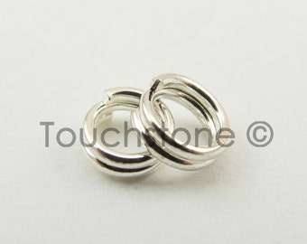 4mm Sterling Silver Split Rings