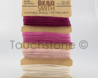 Hemp Twine Cord Ruby Shades 10lb 168ft Crafters Thread