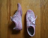 Light pink airbrushed sneakers