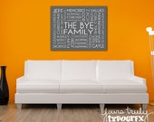 16x20 Metal Print featuring Custom Typography Word Art - Your Words, Your Colors, Your Story - Great for Family, Wedding Gifts
