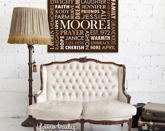 20x30 Canvas featuring Custom Typography Word Art - Your Words, Your Colors, Your Story - Great for Family, Wedding Gifts