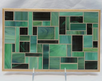 Green Glass Mosaic Trivet