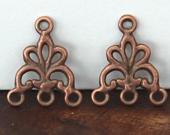 8 Pcs Chandelier Components, Antique Copper, 20mm Fancy - eTS028AC