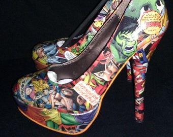 Avengers Custom Comic Book Heels