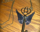 Flying Key Necklace