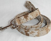 US Marine Corps Camo Dog Leash - Available In Marines Desert and Woodland