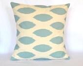 Ikat designer pillow cover decorative pillow cover cushion cover 18x18 inches Ikat blue pillow cover