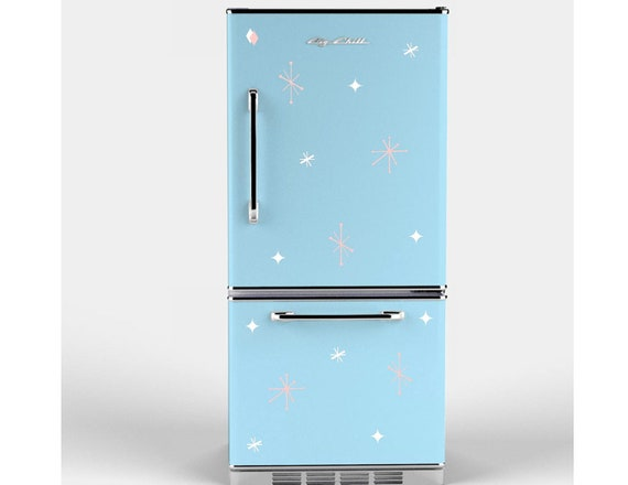 Retro Stars Appliance Decals for your Refrigerator / Fridge