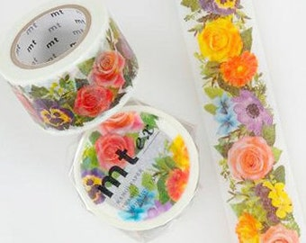 MT Washi Masking Deco Tape EX Garden Flower Design