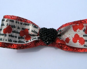 Red Bloody Halloween Hair Bow with Clip-Last one left being discontinued!