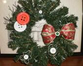Gingerbread Cookie Cutter Wreath - Christmas - Window Size - 9 Inch Wreath Width