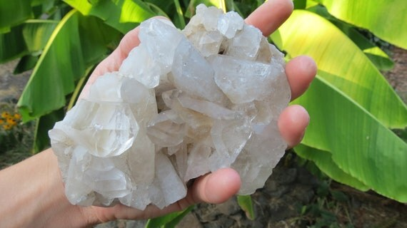Arkansas Quartz Crystal Cluster Smoky Middle Large Specimen / Healer / Shaman Stone
