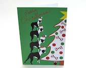 Merry Christmas Stacking Boston Terrier Card