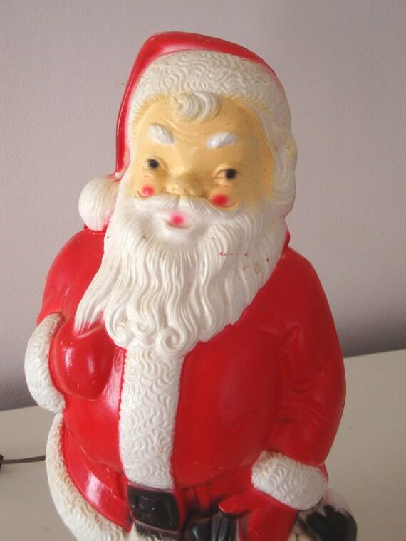Vintage Blow Mold Empire Santa Claus Light Up Plastic