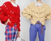 Hollow sweater bat sweater wool sweater cardigan sweater crochet cardigan oversized cardigan