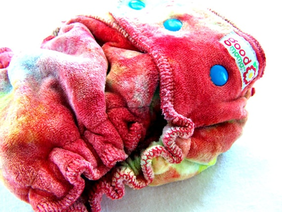 Hand Dyed Goodmama One Sized Fitted Cloth Diaper