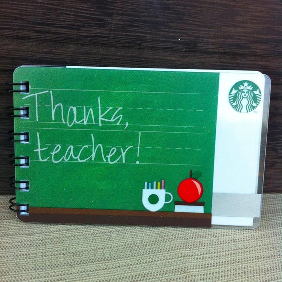 Upcycled Gift Card Notebook - Starbucks