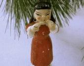 Geisha Girl Porcelain Japanese Asian Oriental Figurine Kimono Dress Red