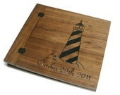"Scrapbook Wooden Album -  Wood Burnt  12"" x 12"" - With Date"