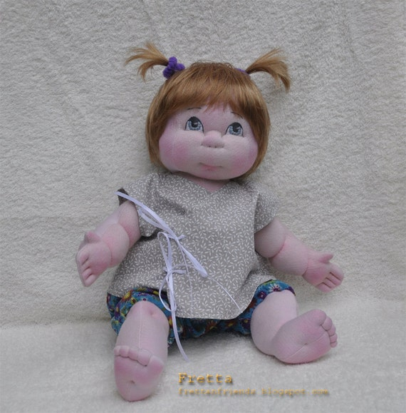 """Little Darling 03'2012. 38 cm / 15"""" Soft Sculpture Baby Girl, Child Friendly Cloth Doll."""