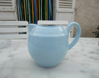 1970 Vintage French blue milk jug