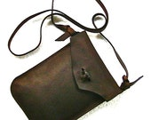 Dark brown leather e-reader case, leather e-reader sleeve, e-reader bag