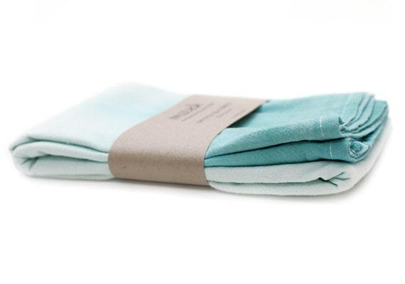 SALE: 40% OFF!! Blue Hawaiian Dip-dyed Tea Towels