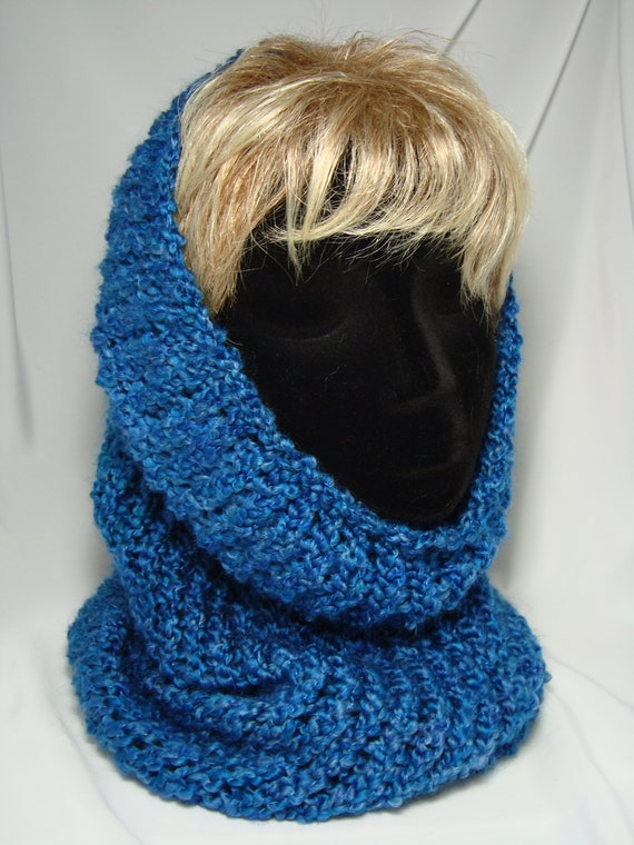 Loom Knitted Hooded Cowl