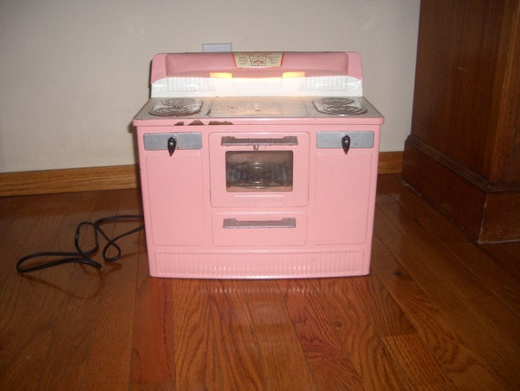 "Vintage 1950's Child's ""Little Lady"" Pink Electric Stove"