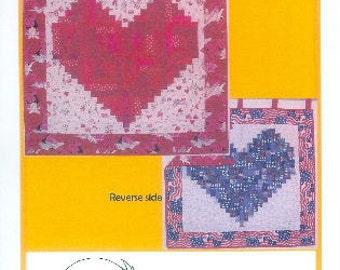 Log Cabin Heart pattern