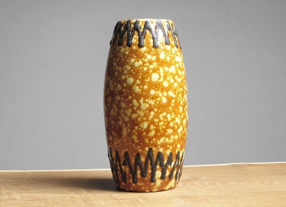 West German fat lava vase by Scheurich (522 20)
