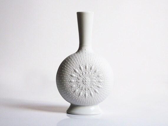 """Bisque """"Rosetta"""" vase by Krautheim (Bavaria, Germany)"""