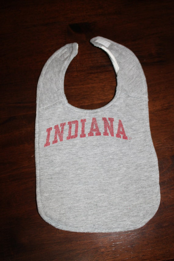 Upcycled Bib from Indiana Tshirt