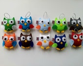 Owl Baby SET of 10 Party Favor Ornament Softie Plushie Made to Order