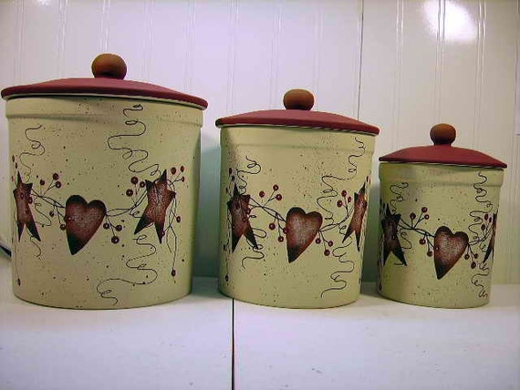hearts and stars kitchen collection items similar to primitive country tin hearts 23918