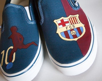 Custom Painted Shoes- FCBarcelona