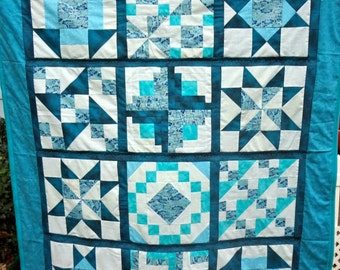 Traditional Sampler Lap Quilt