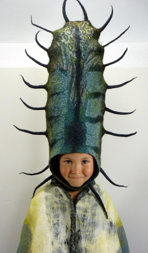 Metamorphosis hand felted theatrical head dress