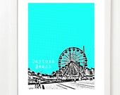 Daytona Beach Skyline Art Print - Daytona Beach Florida City Skyline Series - Daytona Beach Poster