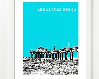 Manhattan Beach City Art - California Poster - Manhattan Beach Pier