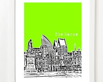 The Hague Skyline Poster - The Hague Netherlands City Skyline Series Art Print - Den Haag