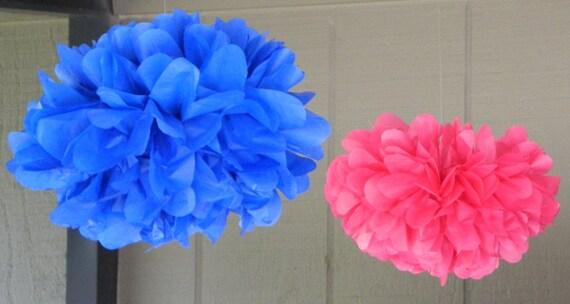 """10 Small (9"""") Tissue Paper Pom Poms - Birthday/Wedding/Baby Shower/Bridal Shower/Nursery"""