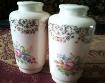 SALE Limoges Salt and Pepper Shakers
