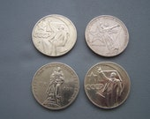 Lot of 4 Vintage Soviet Russia coins - RUBLES - 60s 70s USSR
